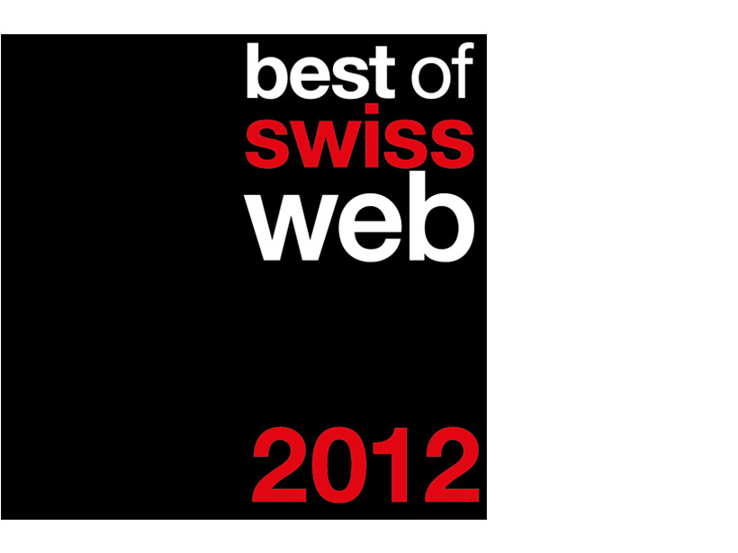 best of swiss web award 2012