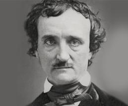 Edgar Allan Poe Porträt schwarz-weiss