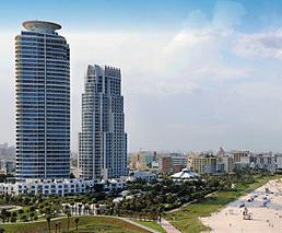 Hochhäuser am Strand Miami Beach