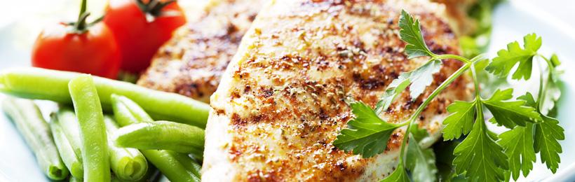Grilliertes Poulet mit Gemüse & Koriander