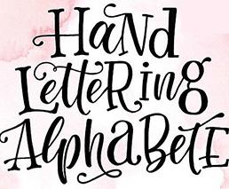 Handlettering Alphabete