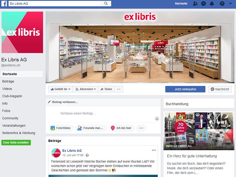 Facebook-Seite von Ex Libris
