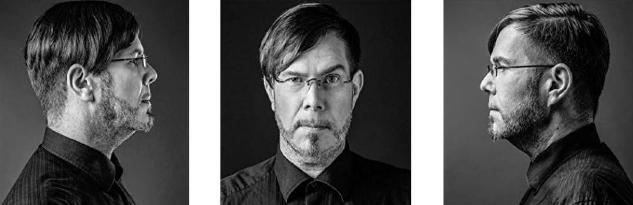Markus Heitz im Profil und frontal