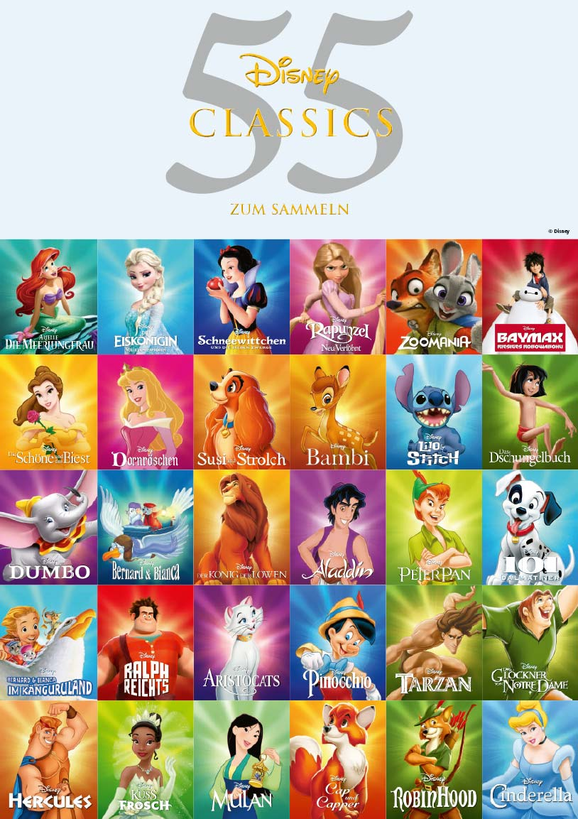 55 Disney Classics