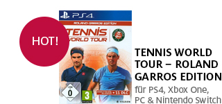 «Tennis World Tour - Roland Garros Editon» für PS4, Xbox One, PC & Nintendo Switch portofrei bestellen.