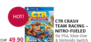 «Crash Team Racing - Nitro-Fueled» für PS4, Xbox One & Nintendo Switch portofrei bestellen.