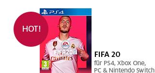 «FIFA 20» jetzt portofrei für die PS4, Xbox One, PC & Nintendo Switch bestellen.