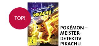 Bestellen Sie das Film-Highlight «Pokémon - Meisterdetektiv Pikachu» portofrei.