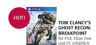 «Tom Clancy's Ghost Recon: Breakpoint» jetzt portofrei für PS4, Xbox One & PC bestellen.