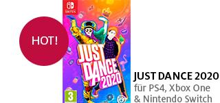 «Just Dance 2020» jetzt portofrei für PS4, Xbox One & Nintendo Switch bestellen.