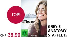 Bestellen Sie die 15. Staffel von «Grey's Anatomy» jetzt portofrei.
