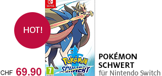 «Pokémon Schwert» jetzt portofrei für die Nintendo Switch bestellen.