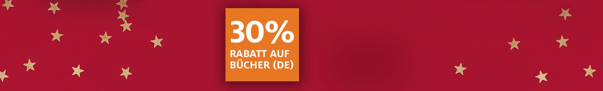 Nur noch heute: 30% auf Bücher (DE)
