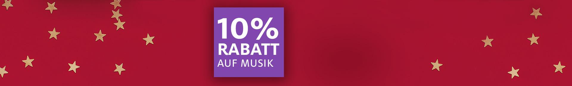 3. Adventsüberraschung: 10% auf Musik