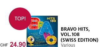 Die neue «Bravo Hits, Vol. 108» (swiss Edition) jetzt portofrei bestellen!