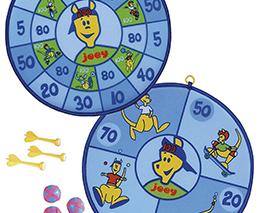 Kinderklettball-Dartboard