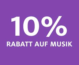 10% Rabatt auf Musik