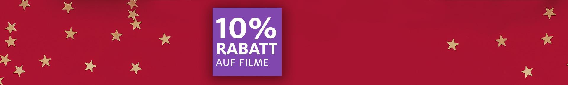 1. Adventsüberraschung: 10% auf Filme