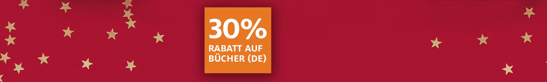 2. Adventsüberraschung: 30% auf Bücher (DE)