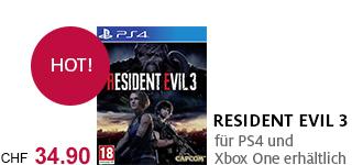 Bestellen Sie «Resident Evil 3» jetzt portofrei!