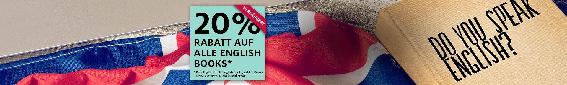 20% auf alle English Books