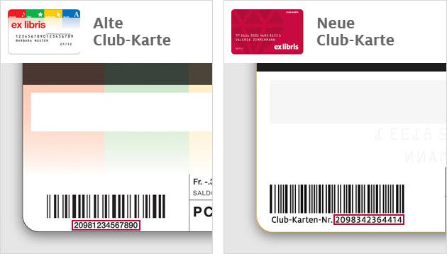 Wo befindet sich die Club-Kartennummer?