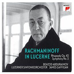 B. Abduraimov, luzerner Sinf. Orch., J. gaffigan CD Rachmaninoff In Lucerne-rhapsody On A Theme Of Pag