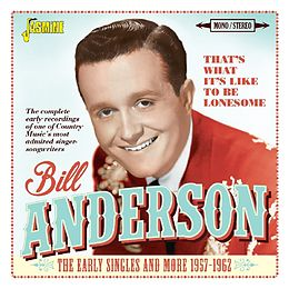 Bill Anderson CD That'S What It'S Like To Be Lonesome