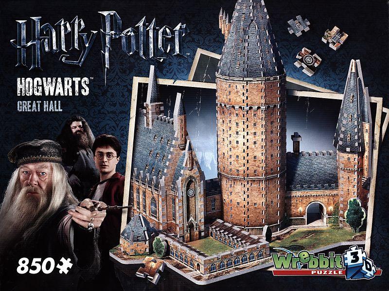 Puzzles & Geduldspiele Harry Potter Hogwarts Große Halle 3D-Puzzle 850 Teile Spiel Harry Potter Deutsch