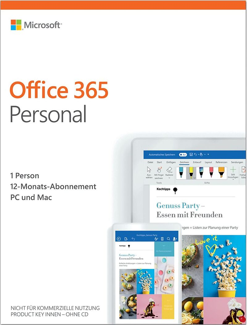 Office 365 Personal [1PC] 1 Jahr Abonnement [PC/Mac] (D)