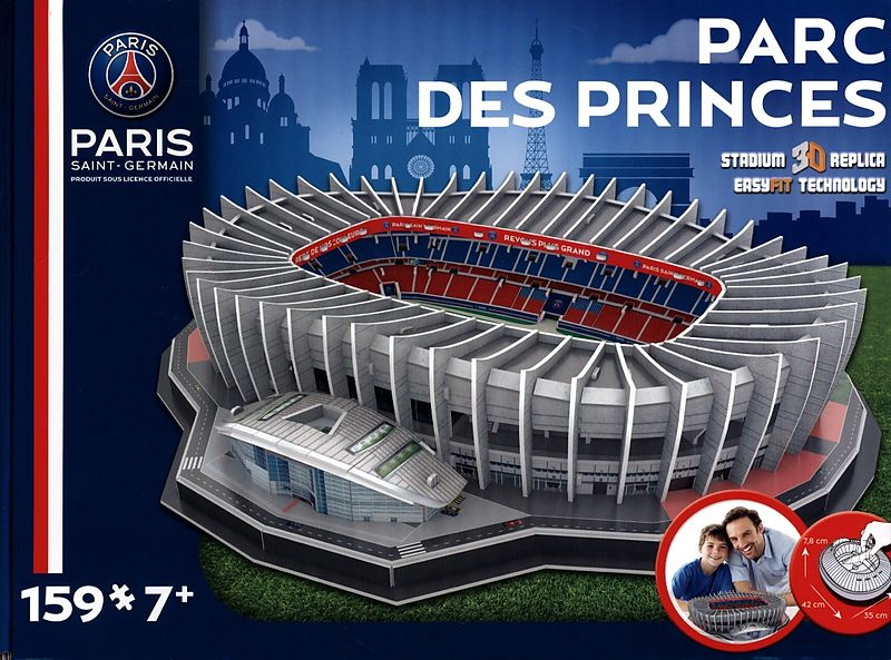 parc des princes stadium paris saint germain 3d puzzle. Black Bedroom Furniture Sets. Home Design Ideas