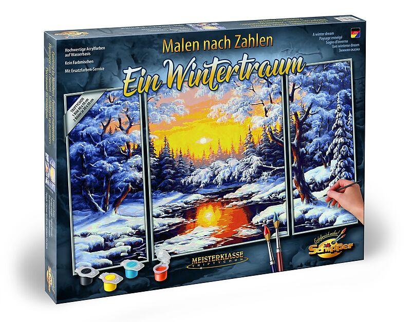 Schipper Malen Nach Zahlen 609260786 Ein Wintertraum Triptychon 50 X 80cm