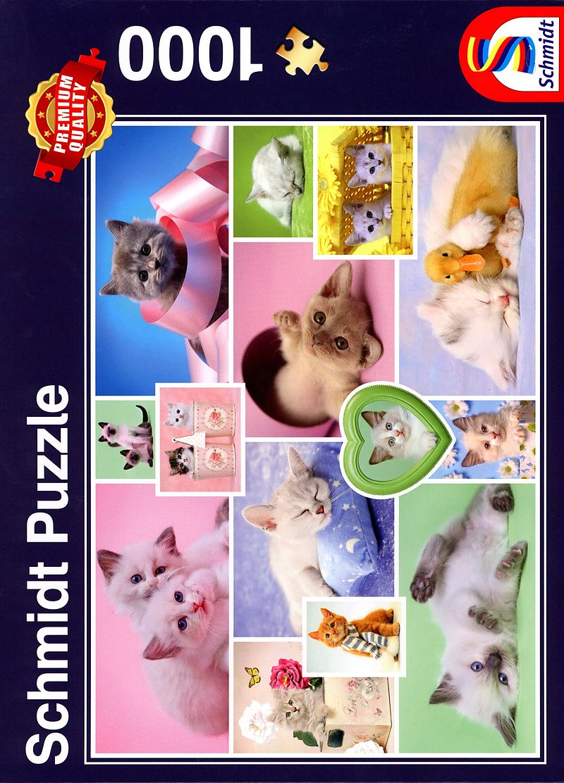 Puzzle 1.000 Teile Spiel Deutsch 2016 Schmusekatzen Puzzles