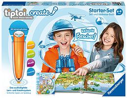 Ravensburger tiptoi CREATE Starter-Set 00805: Stift und Weltreise-Buch - Kreativ-Buch für Kinder ab 6 Jahren, mit Aufnahmefunktion Spiel