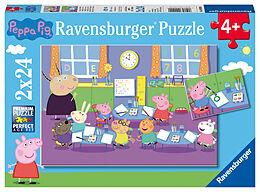 Geduldspiel Puzzles Peppa in der Schule Puzzle 2 x 24 Teile Spiel Deutsch 2018