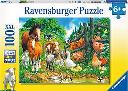Puzzle 100 Teile XXL Spiel Deutsch 2018 Geduldspiel Versammlung der Tiere Puzzles