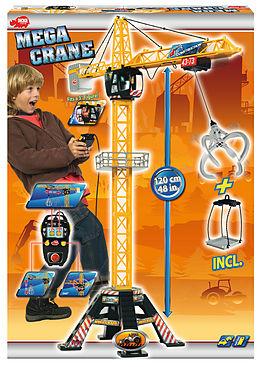 Dickie Spielzeug 203462412 - Mega Crane, Kabel-Fernsteuerung, links, rechts, auf, ab, Zubehör, 120 cm, gelb/schwarz Spiel