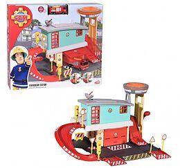 Dickie Toys 203097003 - Feuerwehrmann Sam, Feuerwehr-Station, Feuerstation, auf 2 Etagen, mit Die-Cast-Fahrzeug, Zubehör Spiel