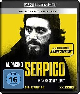 Serpico Limited Steelbook Blu-ray UHD 4K + Blu-ray
