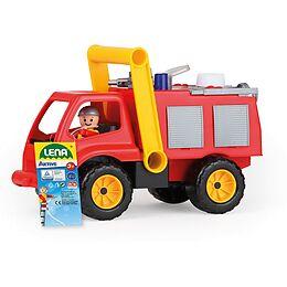 LENA 04155 - Aktive, Feuerwehr mit Spielfigur, Sandspielzeug Spiel