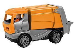 LENA 01623 - Truckies Müllwagen, mit Spielfigur, Müllauto, Sandspielzeug Spiel