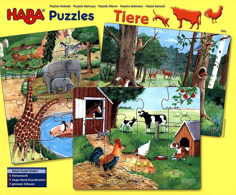HABA-Puzzles Tiere Spiel Deutsch 2012 Puzzles Geduldspiel