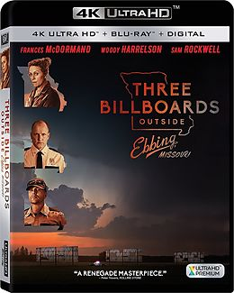 Three Billboards Outside Ebbing, Missouri - 2 Disc Bluray Blu-ray UHD 4K + Blu-ray