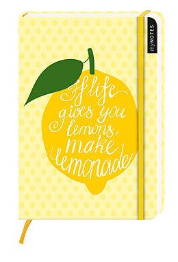 myNotes: If life gives you lemons, make lemonade / Notizbuch groß / blanko