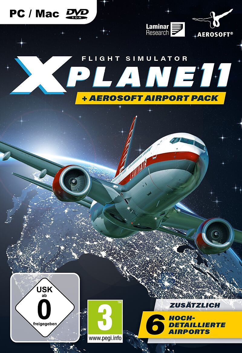 Flight Simulator X-Plane 11 inkl. Aerosoft Airport Pack [DVD] [PC/Mac] (D)