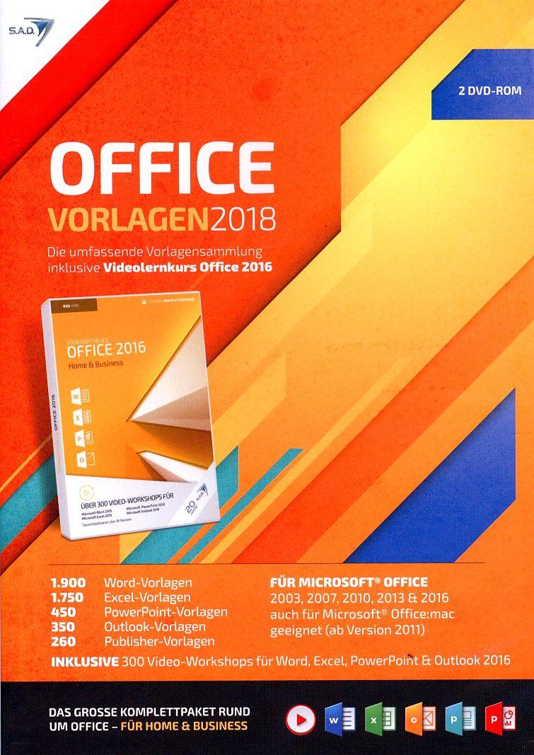 Office Vorlagen 2018 [inkl. Videolernkurs] [PC] (D) - Office ...