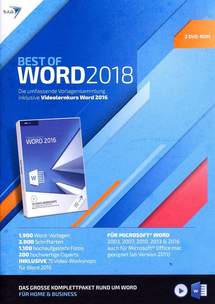 Best of Word 2018 [inkl. Videolernkurs] [PC] (D) - Office - acheter ...
