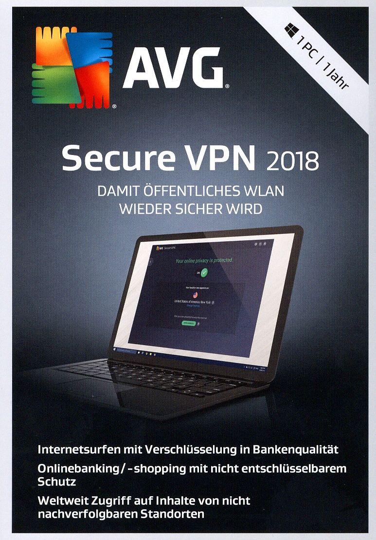 Avg Secure Vpn 2018 1 Jahr Lizenz Pc D Antivirus Securite