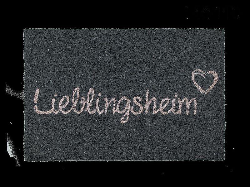 lieblingsheim fussmatte fussmatten online kaufen ex libris. Black Bedroom Furniture Sets. Home Design Ideas