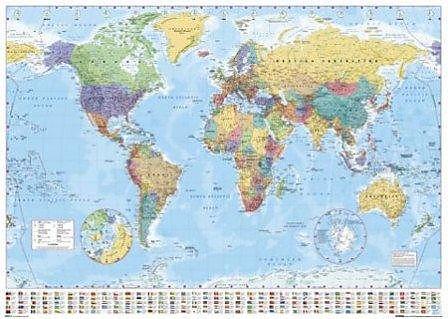 World Map Landkarte Poster - Maxi-Posters - online kaufen | Ex Libris